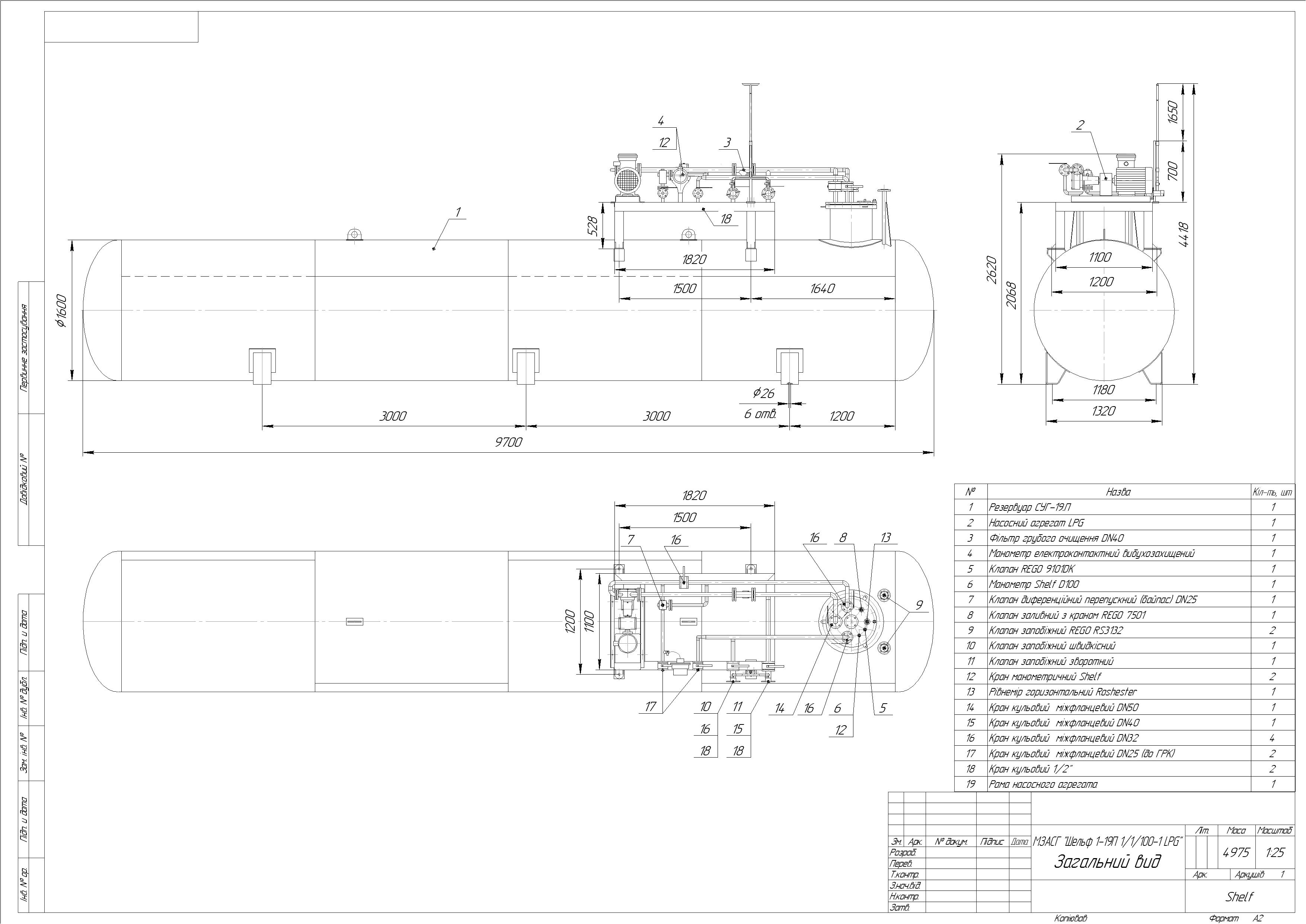 Схема модуля підземного №3