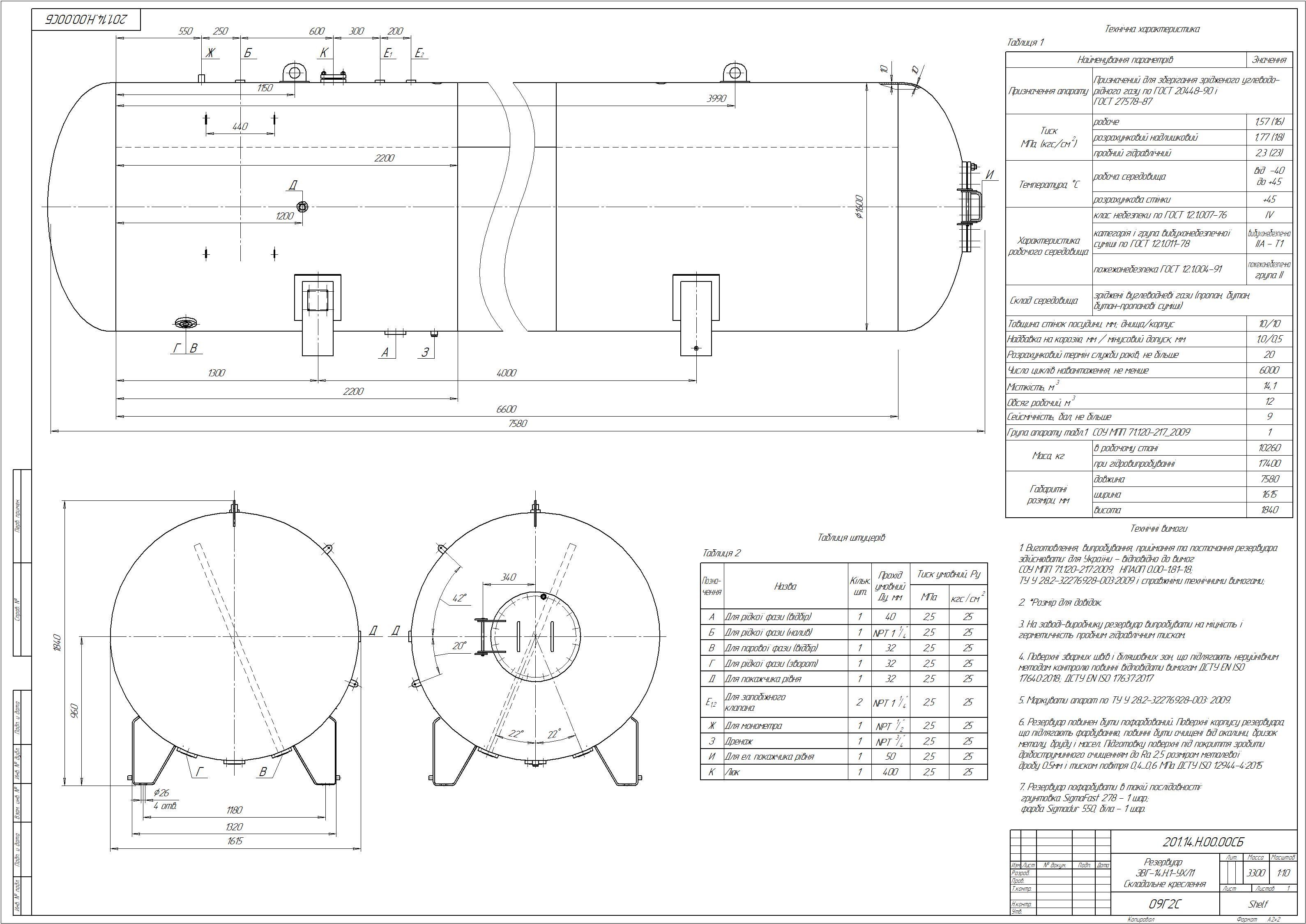Схема резервуару наземного №12
