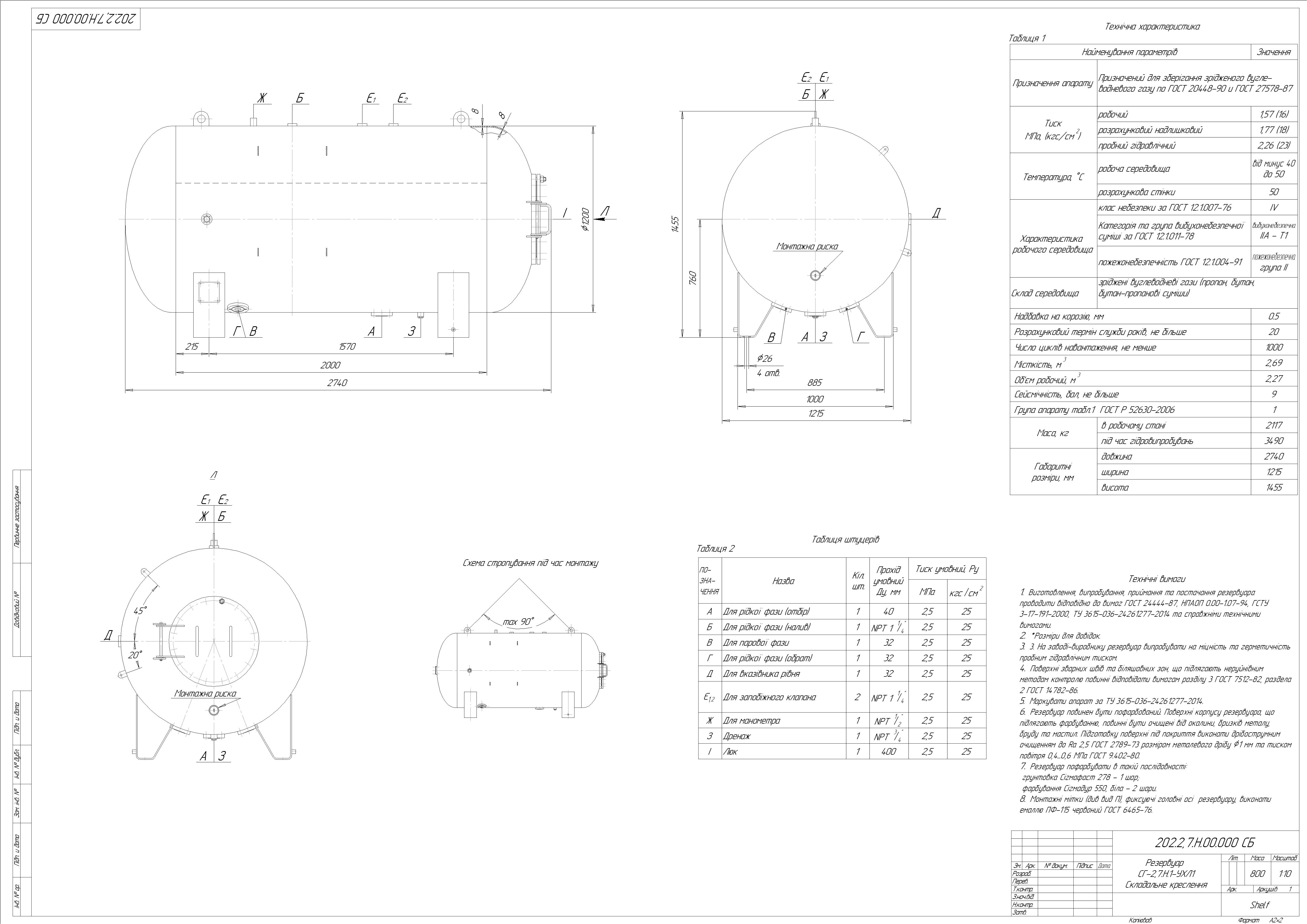 Схема резервуару наземного №2