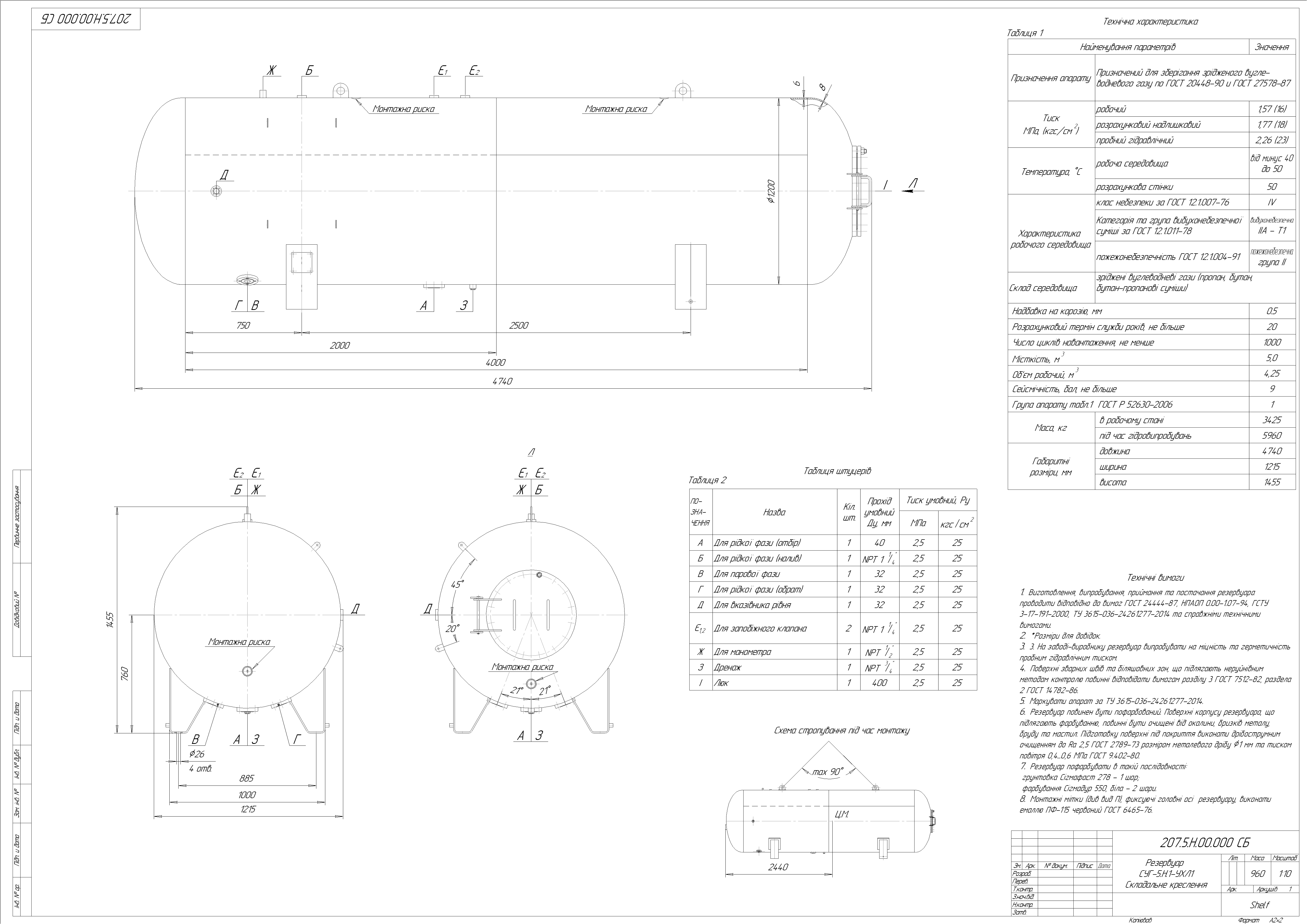 Схема резервуару наземного №3