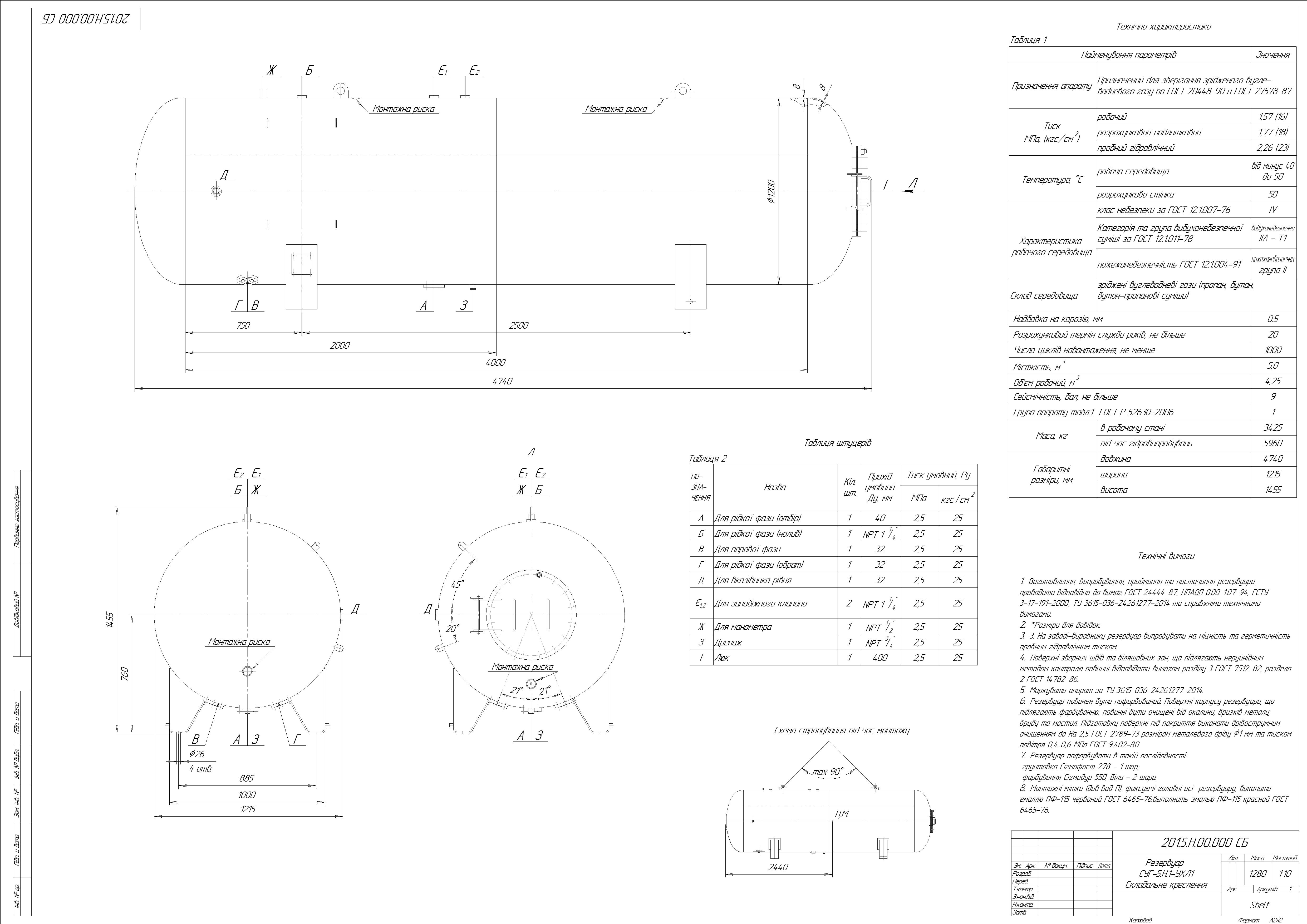 Схема резервуару наземного №4