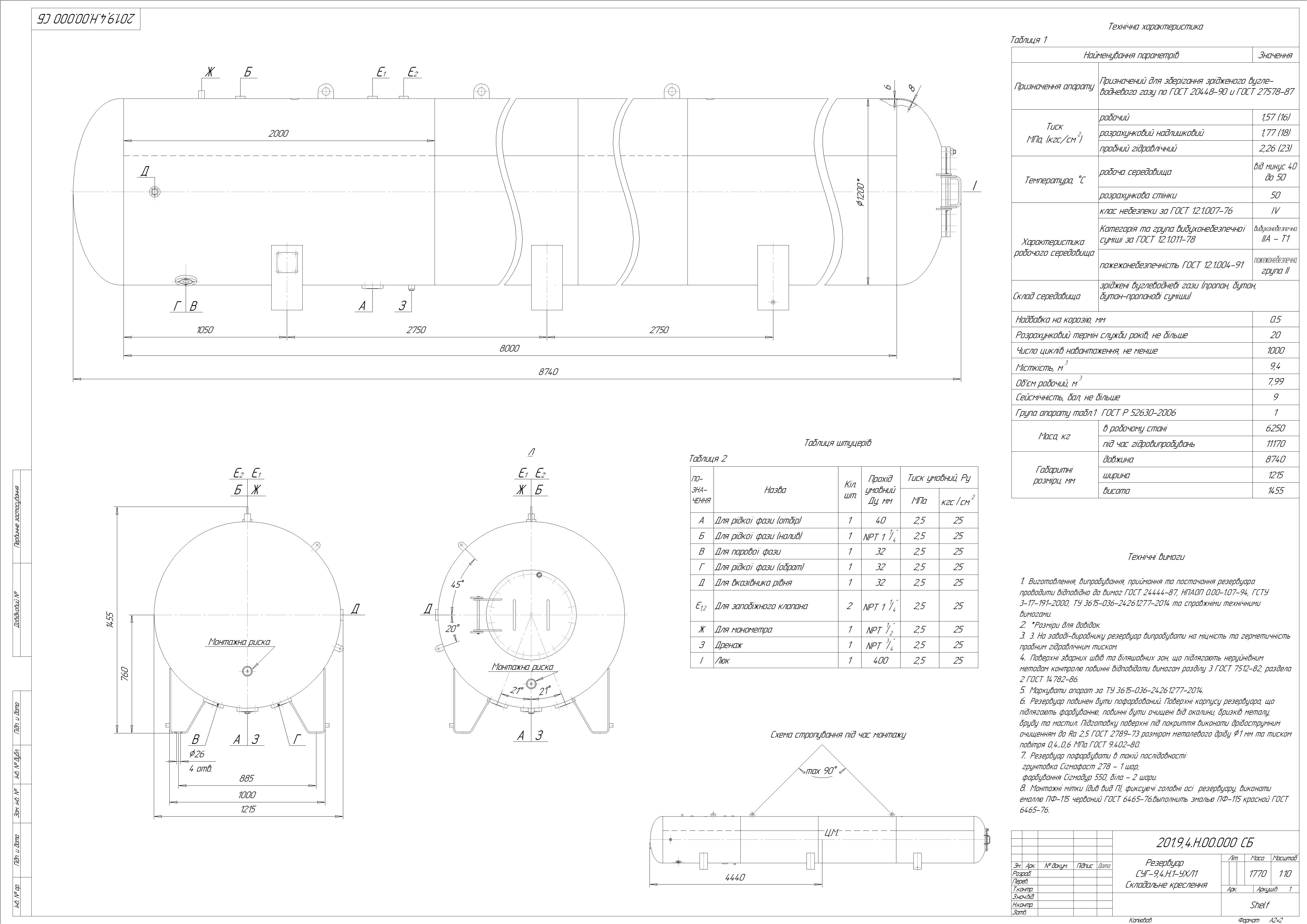 Схема резервуару наземного №5