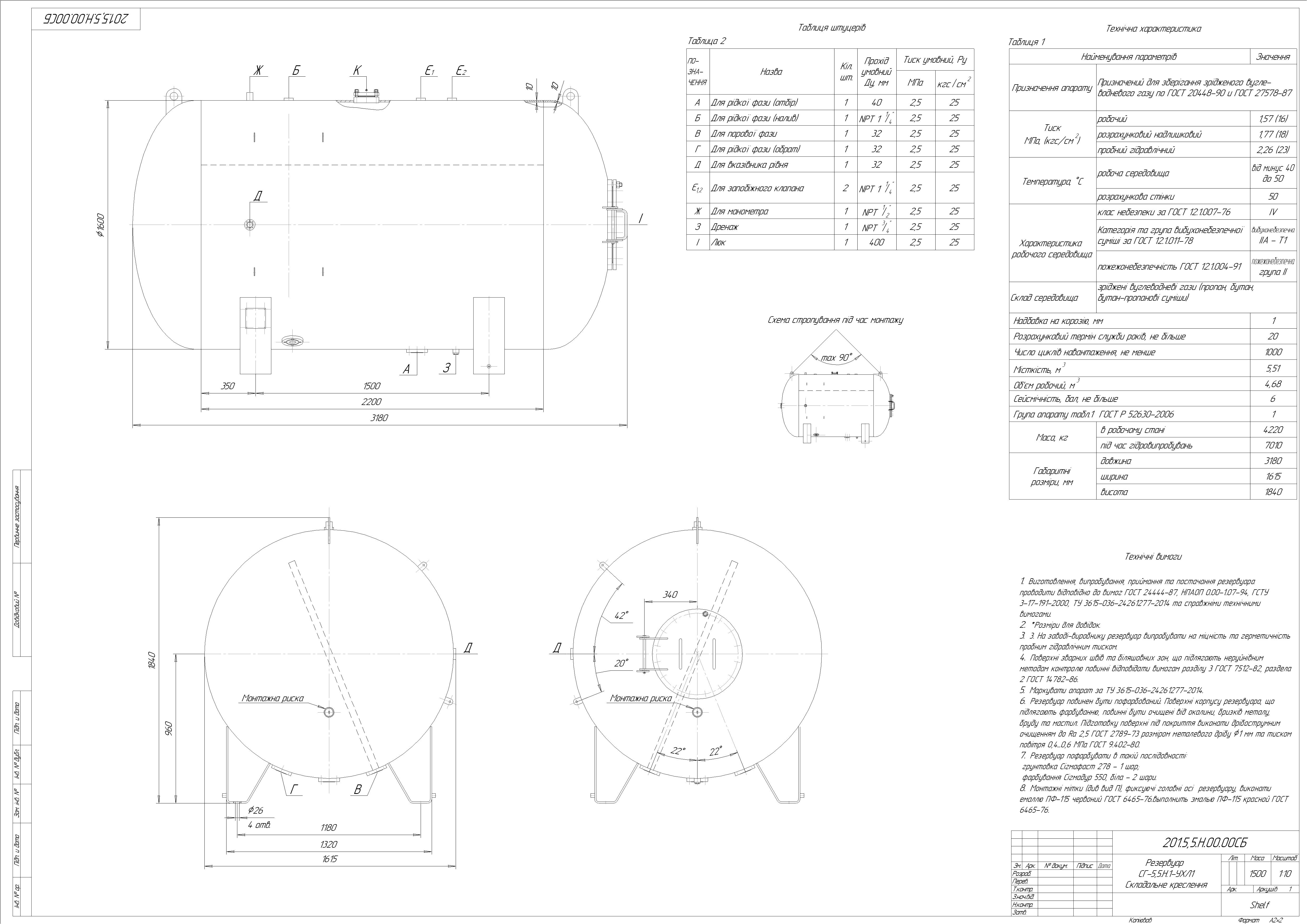 Схема резервуару наземного №6